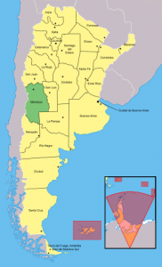 mapa mendonza