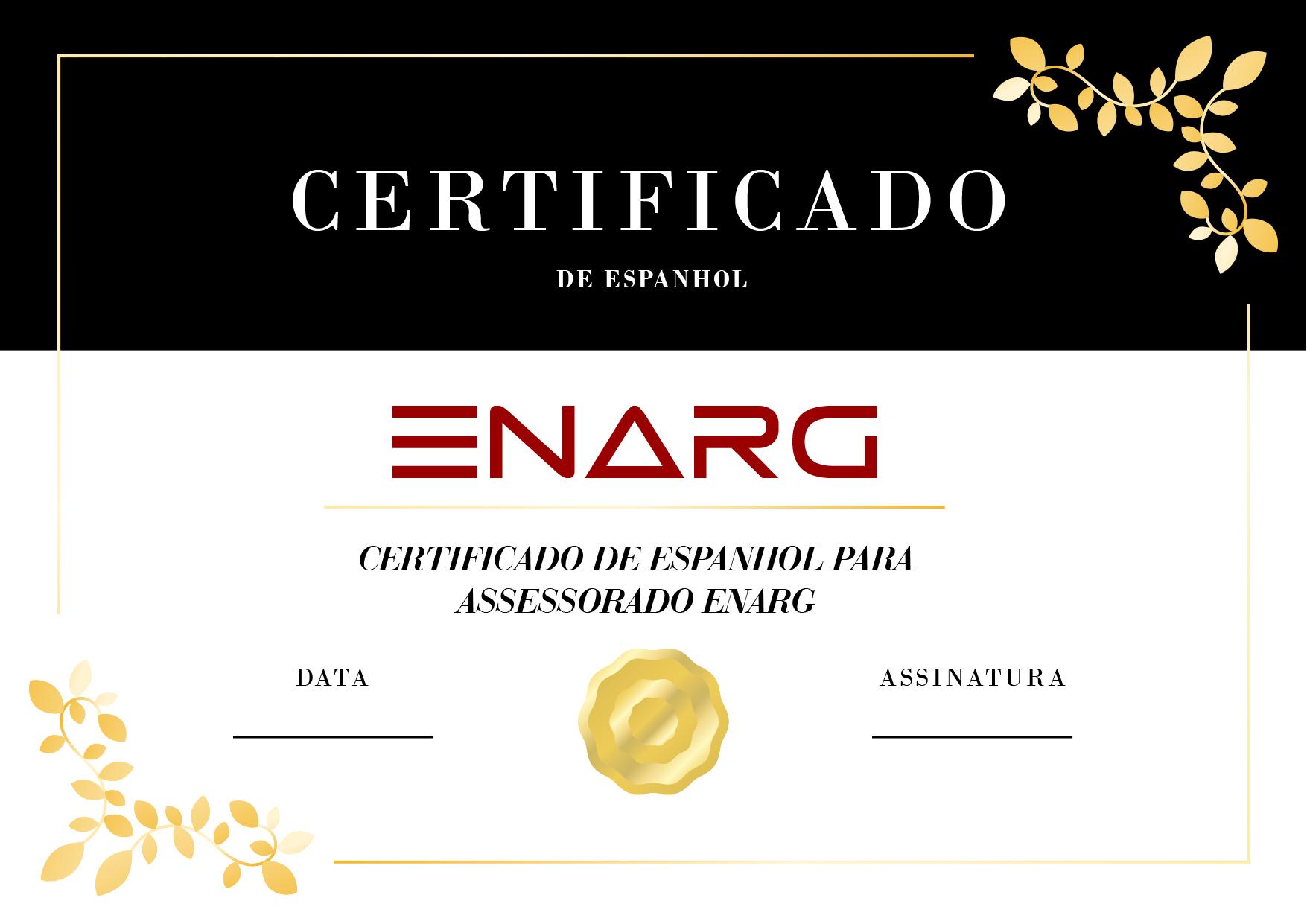 CERTIFICADO DE ESPANHOL 01 - Certificados de Proficiência em Espanhol